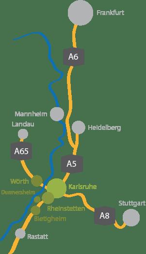 Ferienwohnungen Region Karlsruhe